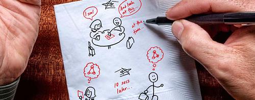 Napkin sketching